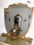 Oglinda veche/vintage/antica. 100 ani,Italia, 1,25m H, Baroc, 1900 - 1949