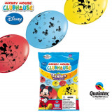 Cumpara ieftin Banner Party din baloane latex Mickey Mouse - 3m, Qualatex 15101