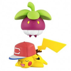 Pokemon, Set 2 figurine Pikachu vs Bounsweet 6 cm