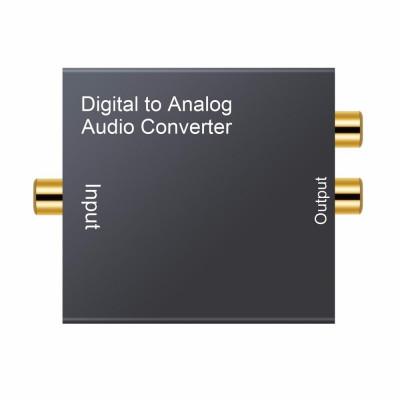 Convertor audio digital coaxial SPDIF toslink la semnal analog RCA + jack 3.5mm foto