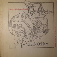 MEDITATII IN IMPONDERABIL - FRANK O'HARA