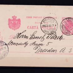 1906 Carte Postala Bucuresti - Dresda 28.11.1906 25 Lei
