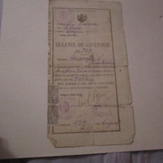 buletin de casatorie an 1929 comuna craiova c18