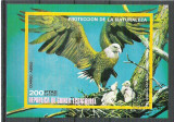 Eq. Guinea 1976 Birds of North America, imperf. sheet, used M.011, Stampilat