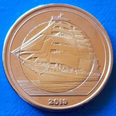 Tortuga 5 dollar 2019 UNC Corabie Bimetal