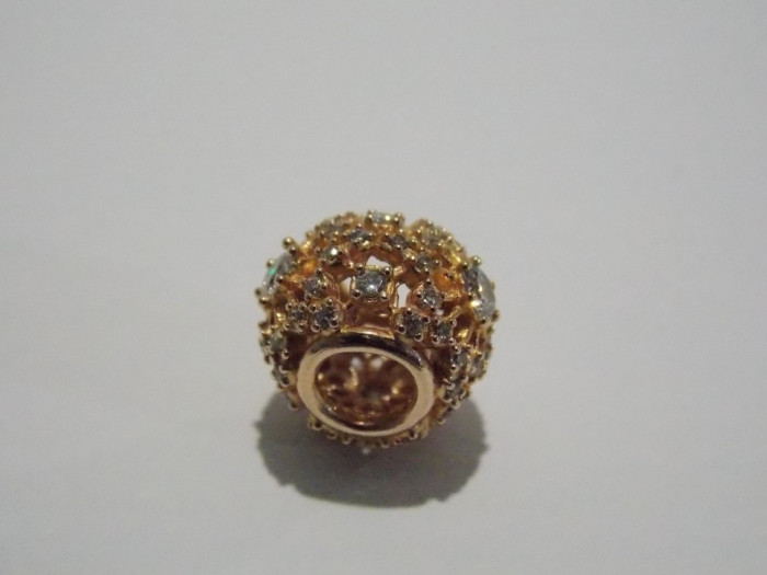 Talisman Pandora din argint suflat cu aur -781370cz -inner radiance