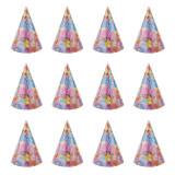 Coif Party Time, imprimeu baloane, 24 cm, 12 bucati multicolore, PRC
