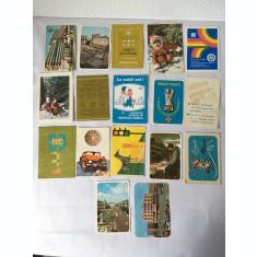 Lot 16 calendare de buzunar anul1982, colectie, vintage