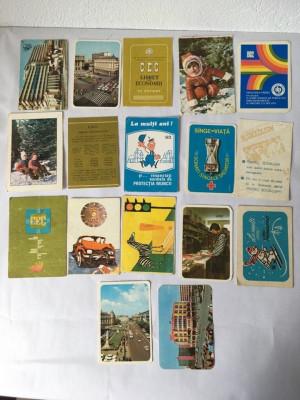 Lot 16 calendare de buzunar anul1982, colectie, vintage foto