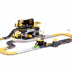 Circuit cu 2 masinute Lamborgini si 60 accesorii Creatix Majorette