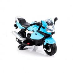 Motocicleta electrica LB cu roti ajutatoare, albastru