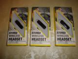 Casca telefon bluetooth stereo wireless headset handsfree, Universal