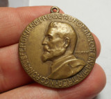 Medalie Regele Ferdinand si Imparatul Traian 1921