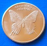 Sulawesi 5 rupia 2019 UNC Fluture Chrysiridia Rhipheus, Australia si Oceania