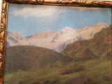 Tablou Austriac cu munti, Peisaje, Ulei, Altul