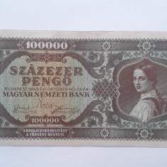 100000 Pengo 1945 Ungaria bancnota penghei Szazezer pengo