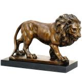 Leu - statueta din bronz pe soclu din marmura JK-20