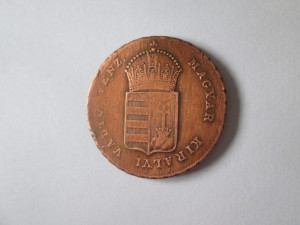 Raritate! Ungaria 1 Krajczar 1849 N.B.(Nagy Banya/Baia Mare)