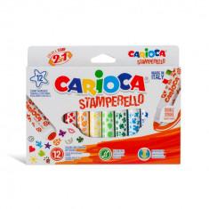 Carioca Stamperello varf dublu 12buc set