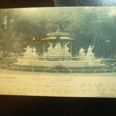 Ilustrata Cluj - Fantana din Parcul Central 1898 -Piesa clasica