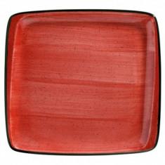 Farfurie patrata din portelan, 27x25cm, Bonna Passion, 0101214