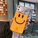 Husa Happy Mirror Glass pentru Samsung Galaxy J4 Plus, Yellow