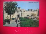 HOPCT 66937 POARTA JAFFA IERUSALIM   -ISRAEL -STAMPILOGRAFIE-CIRCULATA