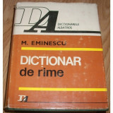 DICTIONAR DE RIME de M. EMINESCU