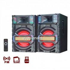 Boxe Portabile cu BT, FM, USB, SD si Telecomanda Ailiang UF7710DT