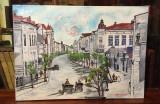 """Tablou Gheorghe Parascan - """"VECHIUL BACĂU"""" (ulei pe pânză, semnat, 50x70 cm.), Peisaje, Realism"""
