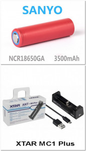 Lanterna Infrarosu cu ZOOM cu LED OSRAM  850nm - Set