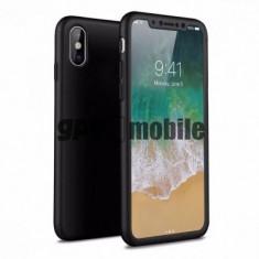 Husa Plastic OEM Full Cover pentru Apple iPhone X / Apple iPhone XS, Neagra