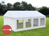 6X8 M CORT EVENIMENTE PROFESIONAL ECONOMY, PVC ignifug 500 g/m² ALB