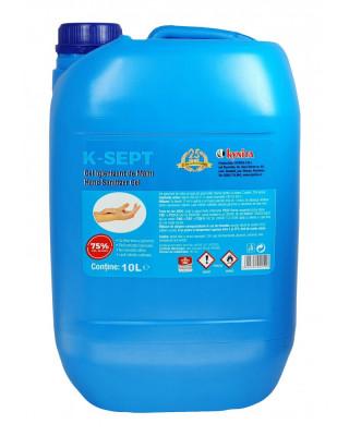 Gel Dezinfectant / Igienizant pentru Maini cu Aloe Vera, K-SEPT 10L, alcoolmin.75% foto