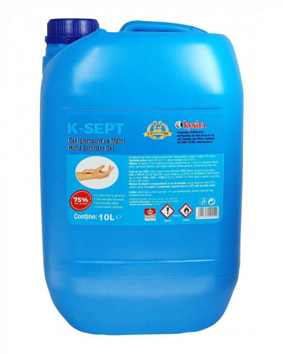 Gel Dezinfectant / Igienizant pentru Maini cu Aloe Vera, K-SEPT 10L, alcoolmin.75%