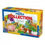 Puzzle animale domestice, 4 puzzle-uri de 24, 35, 48 si 60 piese, D-Toys