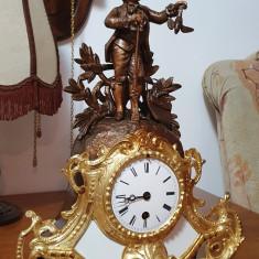 Ceas de semineu cu pendula Japy Freres 1855