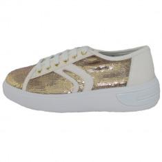 Adidasi dama, din textil si sintetic, marca Geox, D92BYE-C0583-12-06, auriu