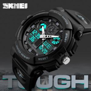 Ceas Barbatesc SKMEI CS880, curea silicon, digital watch, functie cronometru, alarma