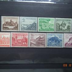 1939  Germania ( Reich ) Mi 730 - 738  Serie completa**, Nestampilat