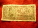 Bancnota 25 lei 1966 Romania , cal. Buna