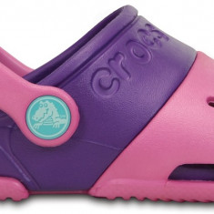 Saboți Copii casual Crocs Electro II, 24.5, Roz