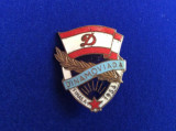 INSIGNA SPORTIVA - ROMANIA - DINAMO - FINALA DINAMOVIADA - 1956