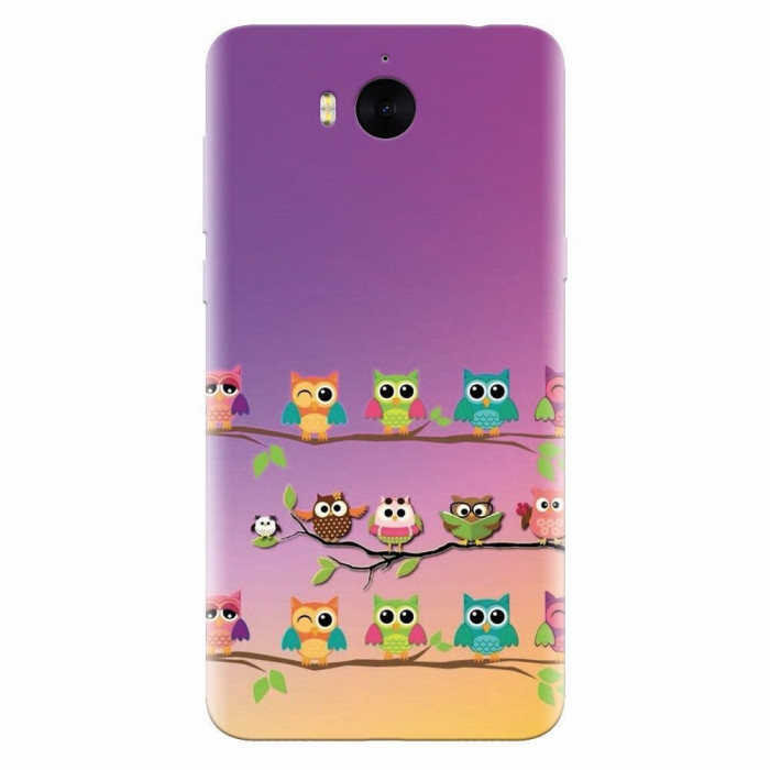 Husa silicon pentru Huawei Y6 2017, Owls