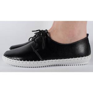 Pantofi negri din piele naturala (cod 159011)