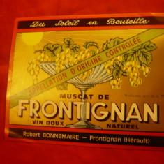 Eticheta -Vin -Muscat de Frontignan Franta , interbelic