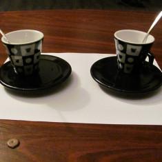 """CY 2 cesti cafea design modern portelan """"NESCAFE Dolce Gusto"""" nefolosite  Italia"""