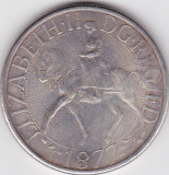 ANGLIA MAREA BRITANIE QUEEN ELIZABETH II JUBILEE CROWN 1877 REPRODUCERE AG