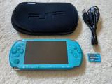 PSP 3004 MODAT card 2gb plin cu jocuri NFS,Minecraft,God Of War+husa SONY+cablu