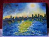Noapte albastra-pictura ulei pe panza, Natura, Altul